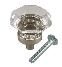 Brushed Nickel Knobs For Cabinets 1 Inch Crystal Octagon Old Town Cabinet Knob Brushed Nickel Base