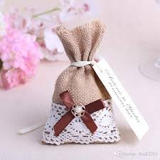 wedding favor bag 2018 rustic burlap sack wedding favor bags candy pouches with