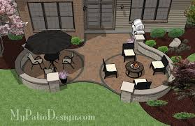 Backyard Patio Designs 350 450 Sq Ft Patio Plans Outdoor by Double Circle Curvy Patio Tinkerturf