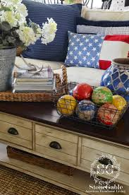 Home Decor Outlet Walden Red White And Blue Summer Family Room Stonegable