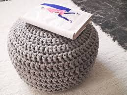 Cheap Pouf Ottoman Furniture Awesome Wool Pouf Ottoman On Gray For Home