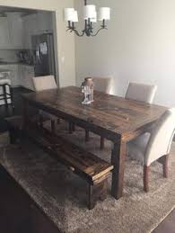 farmhouse table and chairs with bench how to make a diy farmhouse dining room table restoration hardware