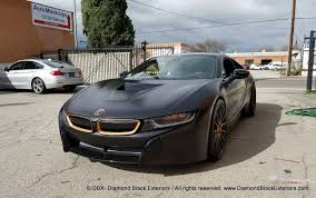 diamond bmw project bmw i8 wrapped in satin black with matte copper metallic