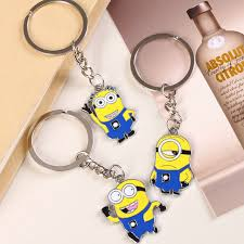 aliexpress key rings images 1 pcs free shipping despicable me key chain cartoon minions jpg