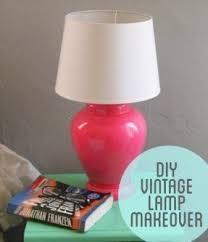 Light Pink Spray Paint - vintage ceramic lamp foter