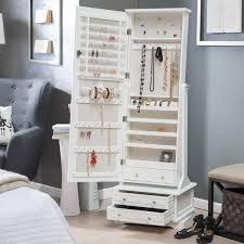jewelry armoire full length mirror locking jewelry armoire and adjustable full length mirror combined