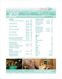 24 spa menu templates u2013 free sample example format download