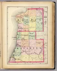 Oregon Counties Map by Map Of Benzie And Manistee Counties Michigan David Rumsey