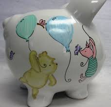 Personalized Silver Piggy Bank Personalized Piggy Bank Classic Winnie The Pooh And Piglet