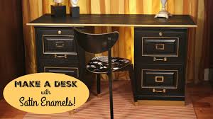 How To Paint A Filing Cabinet How To Office Desk Makeover Youtube