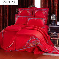 traditional chinese wedding bed set bed sheet king size bedding