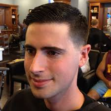 short haircuts eith tapered sides classic tapered haircut with slick side part photo david