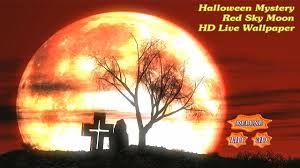 3 d halloween wallpaper halloween moon mystery red sky android apps on google play