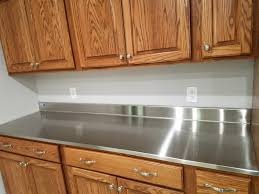 stainless steel countertop with built in sink kitchen backsplash kitchen countertops affordable stainless steel