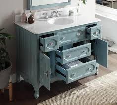 Cottage Bathroom Vanities by Adelina 48 Inch Antique Cottage Bathroom Vanity Antique Blue