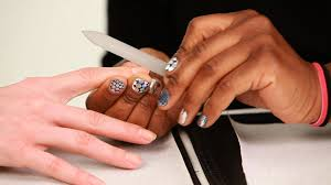 how to use a glass nail file manicure tutorials youtube