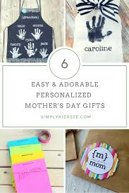 Mother S Day Gifts Homemade by 6 Easy U0026 Adorable Personalized Mother U0027s Day Ideas Artworks Kid