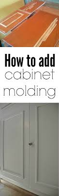 adding molding to kitchen cabinets how to add cabinet molding decor and the dog
