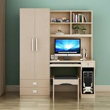 Computer Desk With Doors Table Desktop Home Computer Desk Combination Bookcase Wardrobe