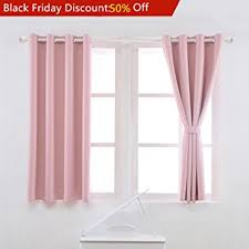 Light Pink Curtains Yoja Thermal Insulated Window Treatment Blackout