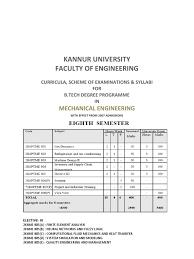 kannur university btech s8 me syllabus shock wave finite