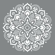 decoart americana decor 10 in x 10 in mandala stencil ads505 b