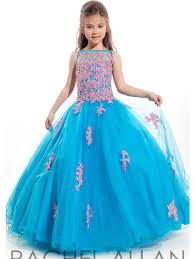 little girls pageant dresses scoop appliqued glitz communion party
