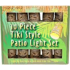 Tiki Patio Lights Bamboo Style Tiki God Mask Patio String Lights Polynesian