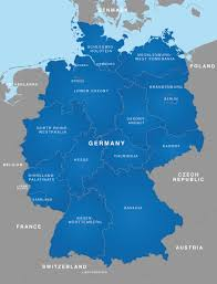 map of regions of germany map of germany german states bundesländer maproom