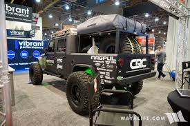 baja jeep wrangler 2017 sema baja designs jeep jk wrangler crew cab pickup truck