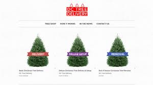 christmas tree delivery christmas tree delivery company takes the hassle out of
