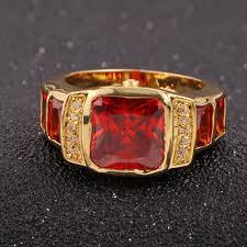 aliexpress buy anniversary 18k white gold filled 4 suohuan men s fashion jewelry 18k yellow gold filled garnet