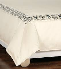 luxury bedding by eastern accents anthemion ivory black duvet cover