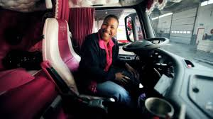 used volvo trucks in canada volvo trucks driver dagmar klink shows her pink volvo fh