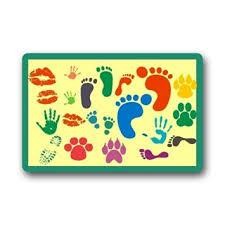 Wipe Your Paws Footprint Doormat Buy Custom Welcome Doormats Design Funny Cartoon