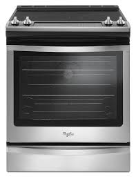 Clean Electric Cooktop Shop Slide In Electric Ranges At Lowes Com
