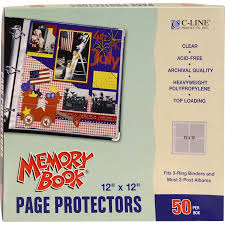 scrapbook page protectors c line page protector 12x12 top load 50pc clear walmart