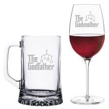 godmother wine glass the godfather mug and the godmother wine glass set walmart