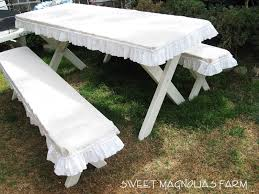 Picnic Table Bench Covers Fitted Heavy Duty Marine Upholstery Vinyl Picnic Table Cover Sets