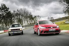 volkswagen hatch old vw golf gti clubsport s blows out 40 candles with new nurburgring