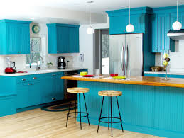 blue color kitchen cabinets kitchen cabinet paint bold blue colors for a cheerful look