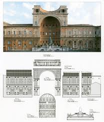 restoration of the bramante courtyard the patrons of the arts