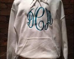 monogram hoodie etsy
