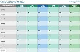free weekly schedule templates for excel smartsheet accounts