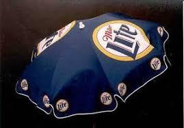 Beer Logo Patio Umbrellas Details About Miller Lite Blue 6ft Beer Patio Umbrella Outdoor