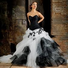 black and white wedding dress and white corset wedding dress naf dresses