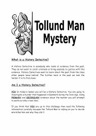 tollund man history detective worksheet ks3 lesson plan