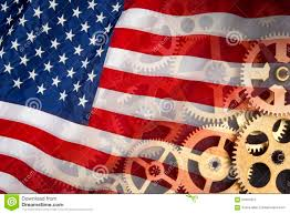 The Flag Of Usa Flag Of United States Of America Industrial Power Stock Image
