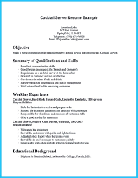 resume examples bartender professional resumes sample online