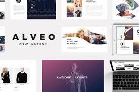 design logo ppt alveo minimal powerpoint template presentation templates